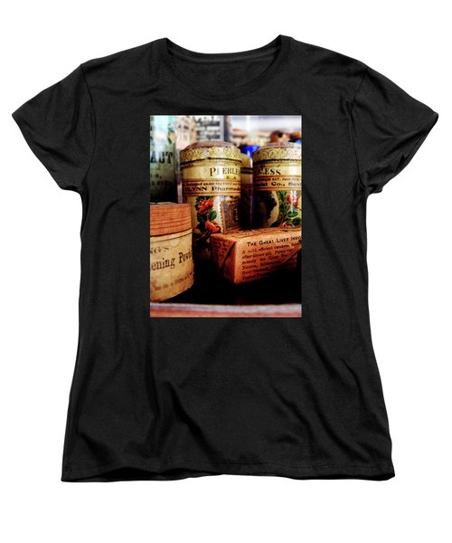 Women's T-Shirt (Standard Cut) featuring the photograph Doctor - Liver Pills In General Store by Susan Savad