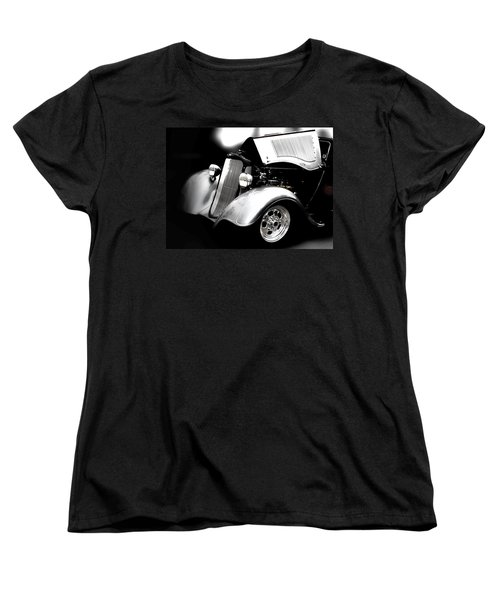 Black And White Women's T-Shirt (Standard Cut) featuring the photograph Dodge This by Aaron Berg