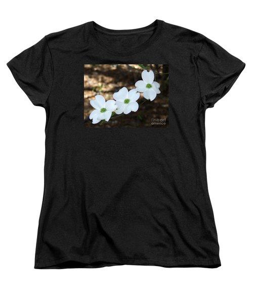 Dogwood Women's T-Shirt (Standard Cut) by Andrea Anderegg