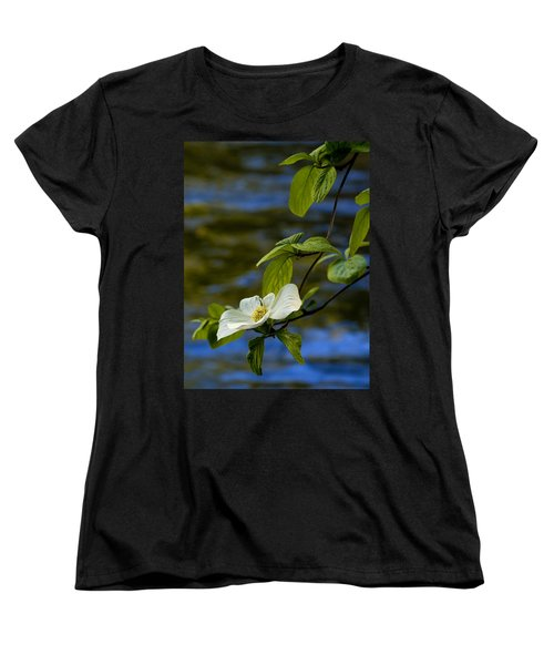 Dogwood On The Merced Women's T-Shirt (Standard Cut) by Bill Gallagher