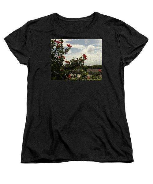 Dominican Red Flower Women's T-Shirt (Standard Cut) by Mustafa Abdullah