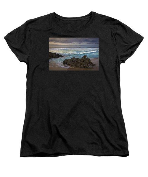Women's T-Shirt (Standard Cut) featuring the photograph Doninos Beach Ferrol Galicia Spain by Pablo Avanzini