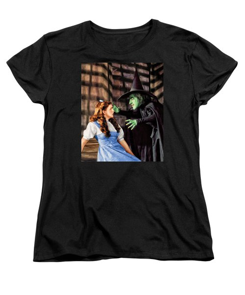 Dorothy And The Wicked Witch Women's T-Shirt (Standard Cut) by Dominic Piperata
