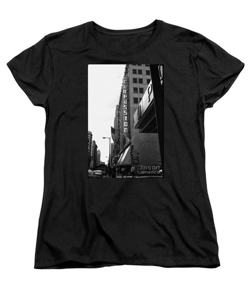Women's T-Shirt (Standard Cut) featuring the photograph Downtown La - Mid '70's by Doc Braham