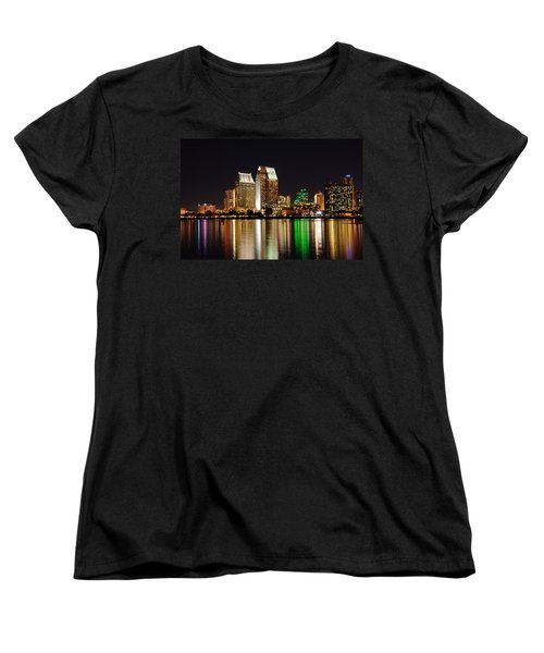 Downtown San Diego Women's T-Shirt (Standard Cut) by Gandz Photography
