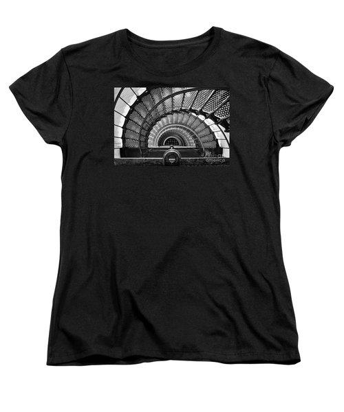 Downward Spiral Bw Women's T-Shirt (Standard Cut)