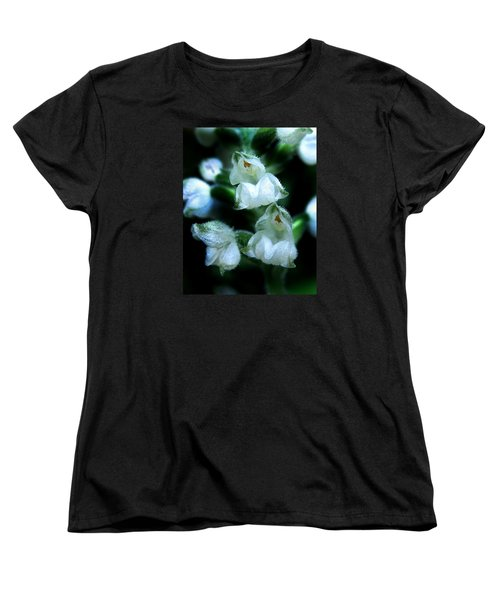 Women's T-Shirt (Standard Cut) featuring the photograph Downy Rattlesnake Plantain Orchid by William Tanneberger