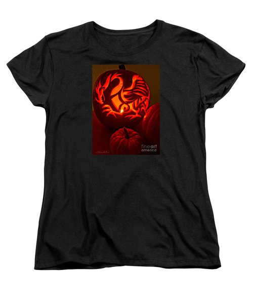 Dragon Lantern Women's T-Shirt (Standard Cut) by Gem S Visionary
