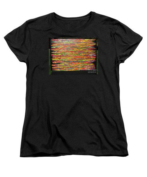 Women's T-Shirt (Standard Cut) featuring the painting Drama by Jacqueline Athmann