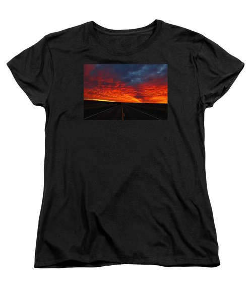 Women's T-Shirt (Standard Cut) featuring the photograph Dramatic Sunrise by Lynn Hopwood