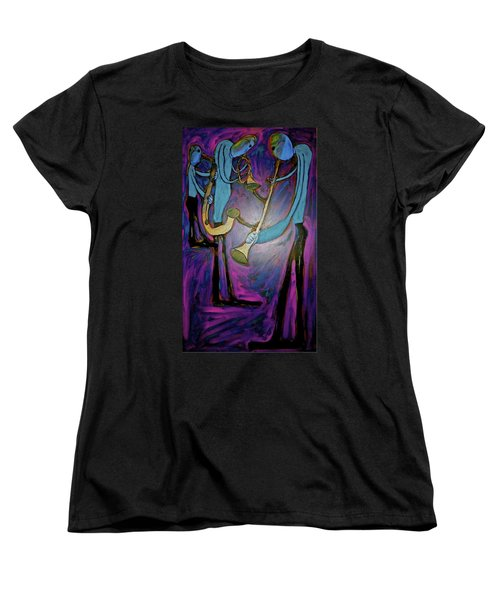 Women's T-Shirt (Standard Cut) featuring the painting Dreamers 00-001 by Mario Perron