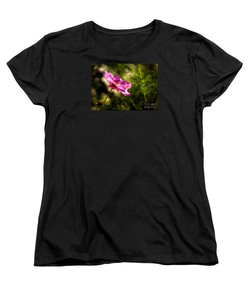 Women's T-Shirt (Standard Cut) featuring the photograph Dreamy Pink Comos by Marjorie Imbeau