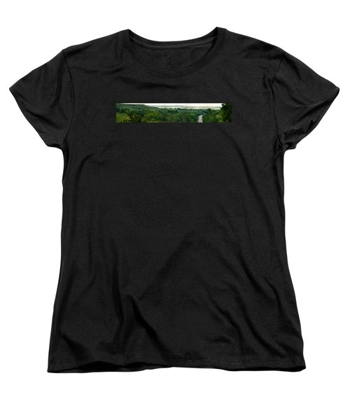 Drive The Flint Hills Women's T-Shirt (Standard Cut) by Brian Duram