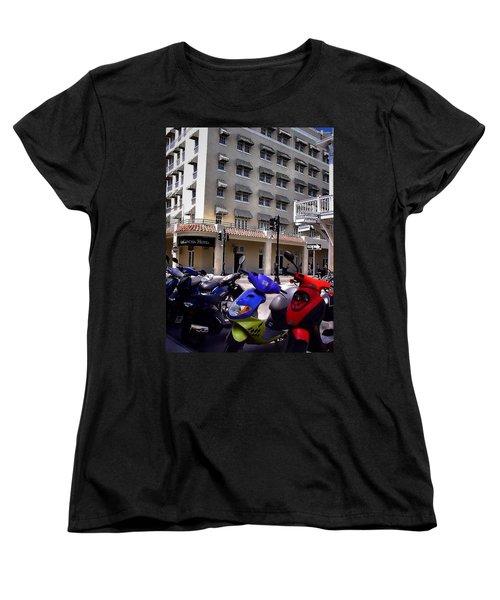 Drivin Duval Women's T-Shirt (Standard Cut) by Robert McCubbin