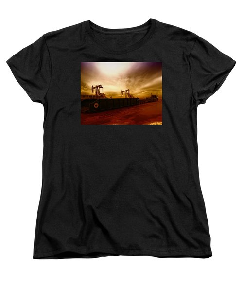 Dropping A Tank Women's T-Shirt (Standard Cut) by Jeff Swan