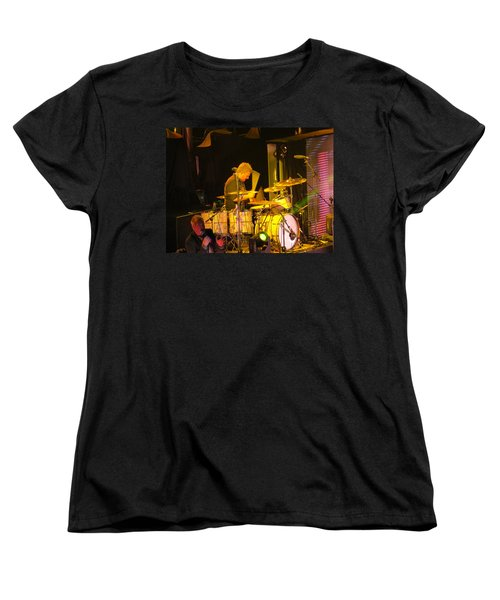 Women's T-Shirt (Standard Cut) featuring the photograph Drumer For Newsong Rocks Atlanta by Aaron Martens