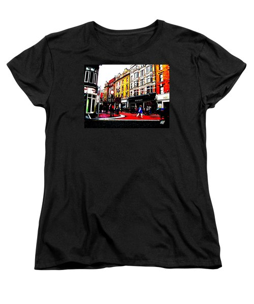 Women's T-Shirt (Standard Cut) featuring the photograph Dublin City Vibe by Charlie and Norma Brock