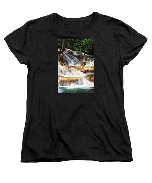 Dunn Falls Women's T-Shirt (Standard Cut) by Hannes Cmarits