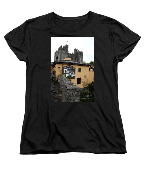 Durty Nellys And Bunraty Castle Women's T-Shirt (Standard Cut) by Christiane Schulze Art And Photography