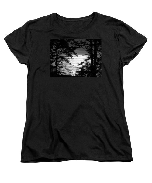 Dusk On The Ocean Women's T-Shirt (Standard Cut) by Katie Wing Vigil