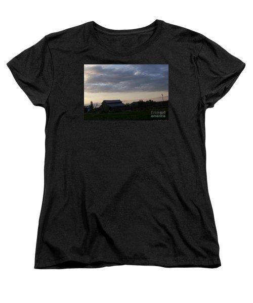 Women's T-Shirt (Standard Cut) featuring the photograph Dusk Til Dawn by Bobbee Rickard