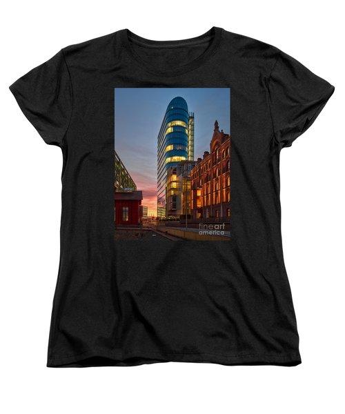 Dusseldorf Media Harbor Women's T-Shirt (Standard Cut) by Daniel Heine