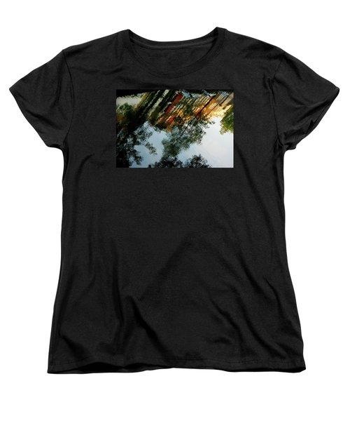 Women's T-Shirt (Standard Cut) featuring the photograph Dutch Canal Reflection by KG Thienemann