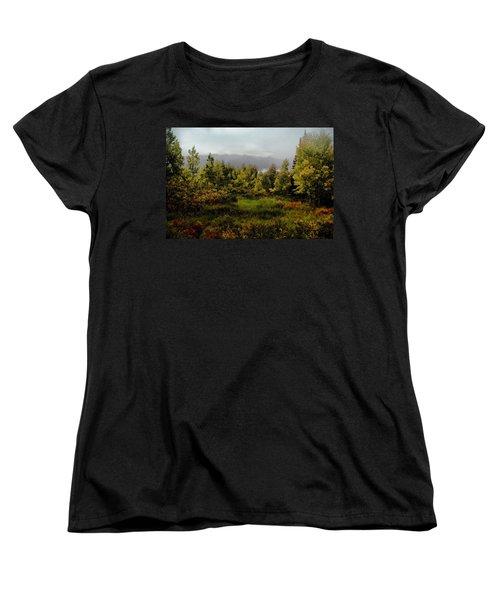 Women's T-Shirt (Standard Cut) featuring the photograph Early Fall On Kebler Pass by Ellen Heaverlo