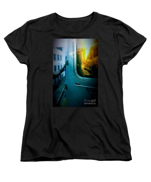 Early Morning Commute Women's T-Shirt (Standard Cut) by James Aiken