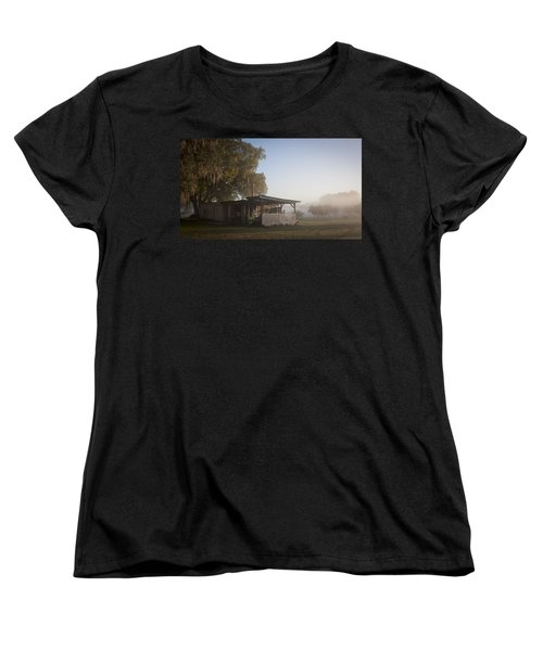 Women's T-Shirt (Standard Cut) featuring the photograph Early Morning On The Farm by Lynn Palmer