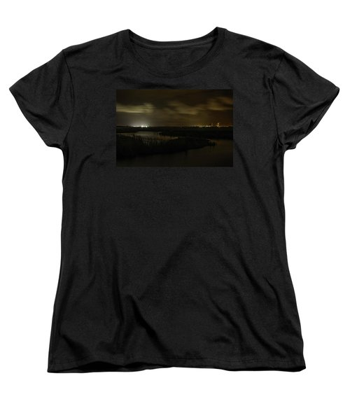 Early Morning Over Lake Shelby Women's T-Shirt (Standard Cut) by Michael Thomas
