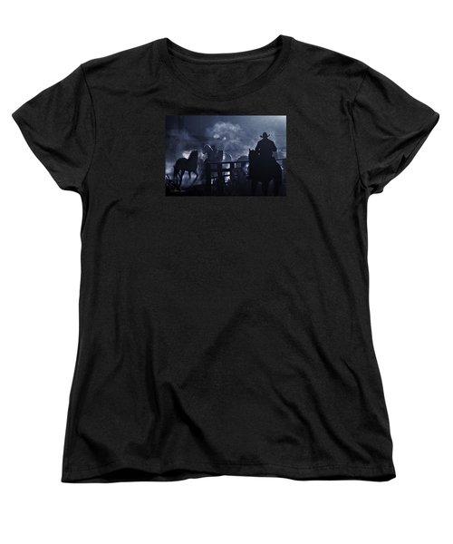 Early Morning Smoke Women's T-Shirt (Standard Cut) by Joan Davis