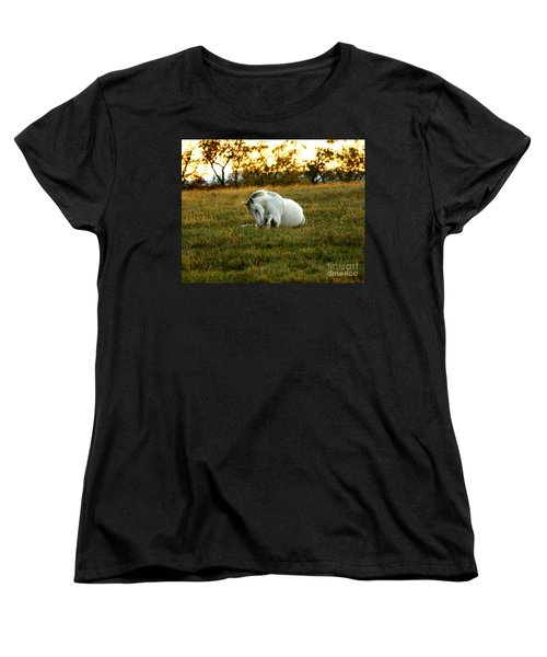 Women's T-Shirt (Standard Cut) featuring the photograph Easier Lying Down by Carol Lynn Coronios