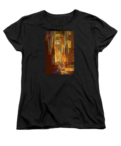 East 45th Street - New York City Women's T-Shirt (Standard Cut) by Miriam Danar