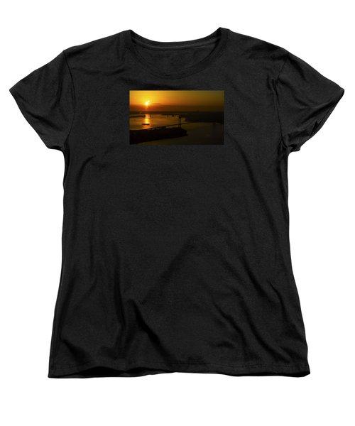 East River Sunrise Women's T-Shirt (Standard Cut) by Greg Reed