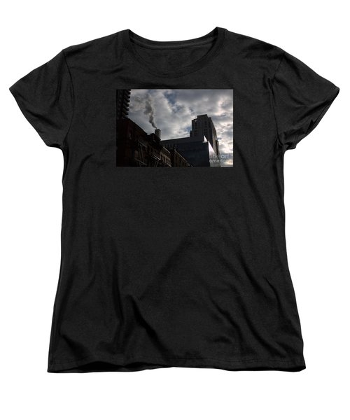 Women's T-Shirt (Standard Cut) featuring the photograph East Side Smoke by Steven Macanka