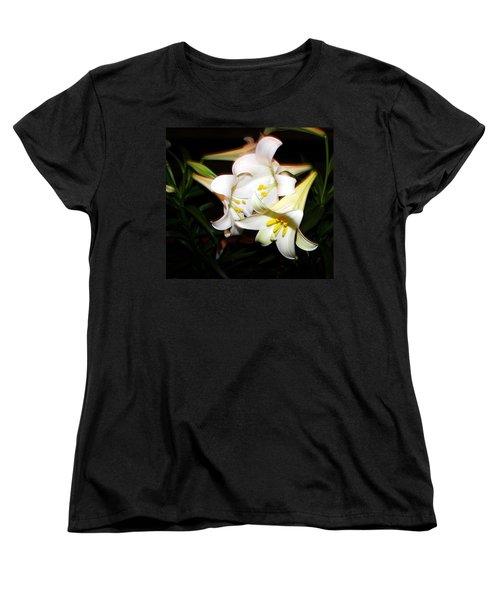 Easter Lilies Women's T-Shirt (Standard Cut) by Pamela Hyde Wilson