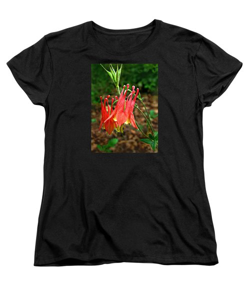 Wild Eastern Columbine Women's T-Shirt (Standard Cut)