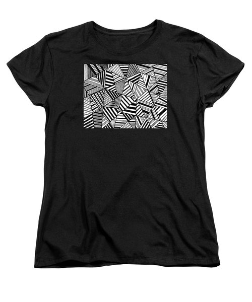 Ebony And Ivory Women's T-Shirt (Standard Cut) by Susie Weber