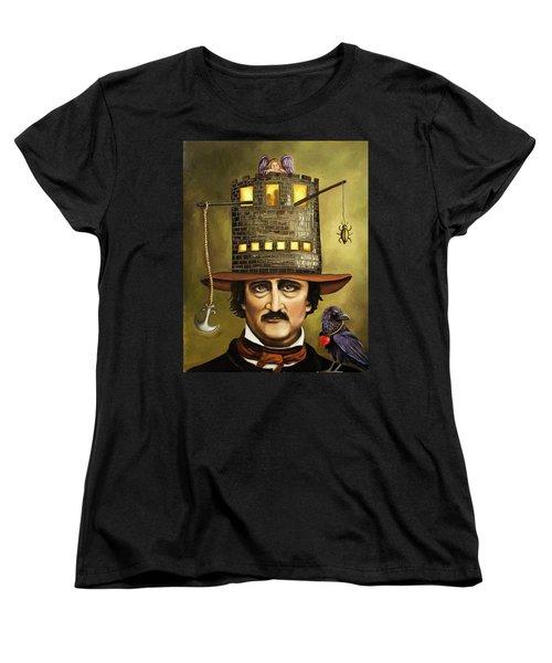 Edgar Allan Poe Women's T-Shirt (Standard Cut) by Leah Saulnier The Painting Maniac