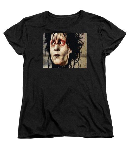 Edward Scissorhands  Women's T-Shirt (Standard Cut) by Joe Misrasi