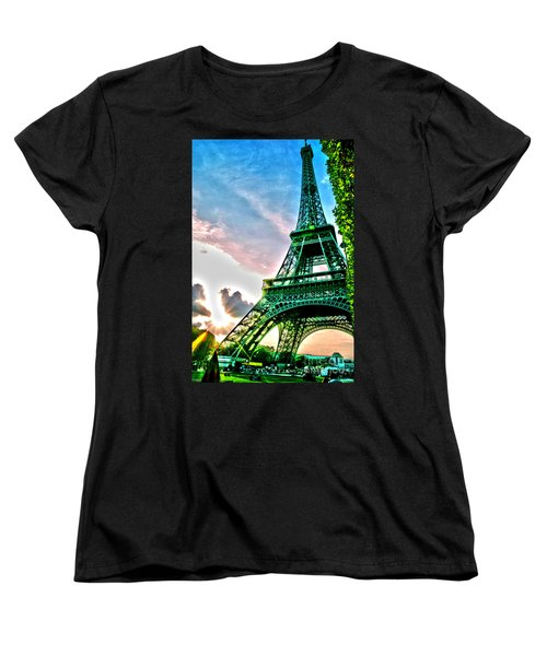 Eiffel Tower 8 Women's T-Shirt (Standard Cut) by Micah May