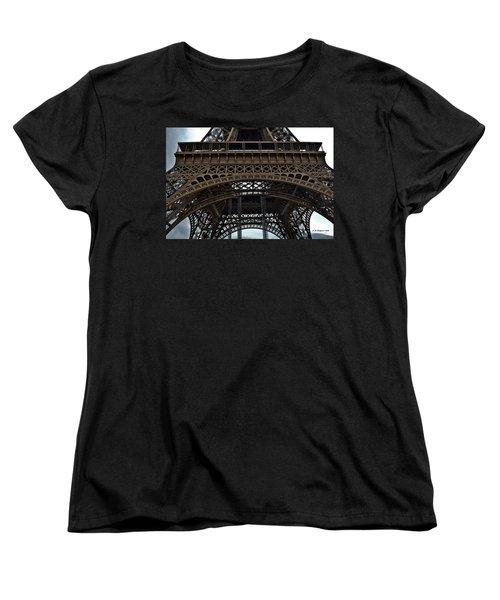 Women's T-Shirt (Standard Cut) featuring the photograph Eiffel Tower - The Forgotten Names by Allen Sheffield