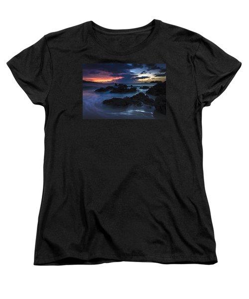 Women's T-Shirt (Standard Cut) featuring the photograph El Villar Beach Galicia Spain by Pablo Avanzini