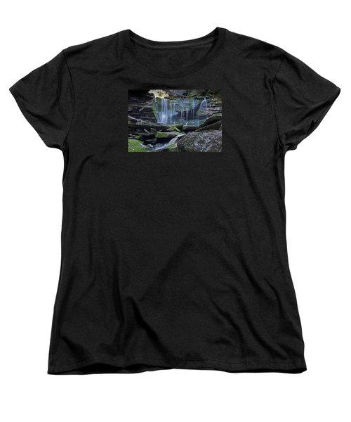 Elakala Falls Number 1 Women's T-Shirt (Standard Cut) by Shelly Gunderson