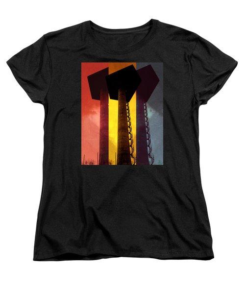 Women's T-Shirt (Standard Cut) featuring the photograph Elastic Concrete Part Three by Sir Josef - Social Critic - ART