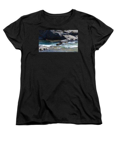 Elbow Falls Landscape Women's T-Shirt (Standard Cut) by Cheryl Miller