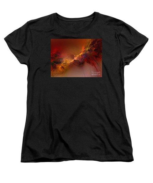 Elemental Force-abstract Art Women's T-Shirt (Standard Cut) by Karin Kuhlmann