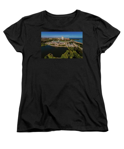 Elevated View Of The Museum Of Science Women's T-Shirt (Standard Cut)
