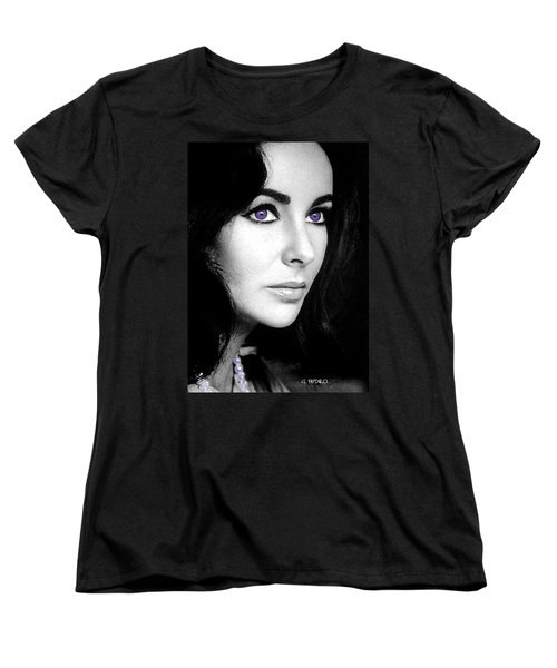 Elizabeth Taylor Women's T-Shirt (Standard Cut) by George Pedro